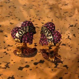 "Betsey Johnson ""Love"" earrings"